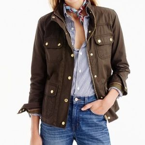 Size L Olive J.Crew Downtown Field Jacket